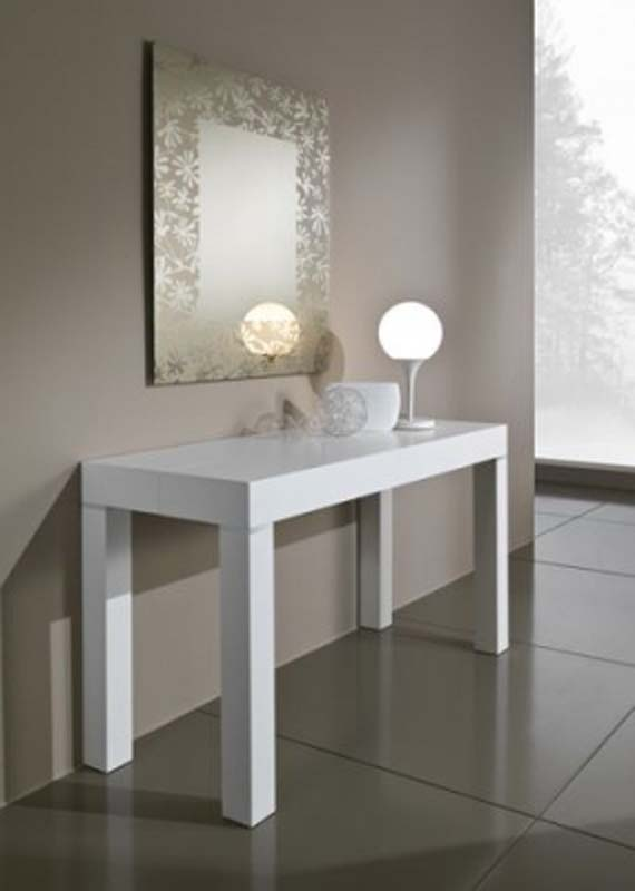 Mobili macerata legnomania interni for Consolle allungabile laccata bianca